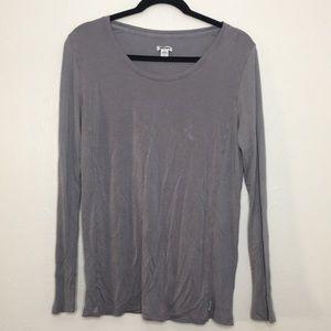 DKNY super soft slouchy long sleeve gray T-shirt L